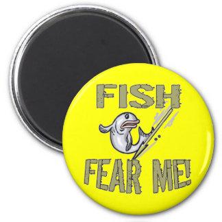 Kids Fishing T Shirts and Kids Fishing Gifts 6 Cm Round Magnet