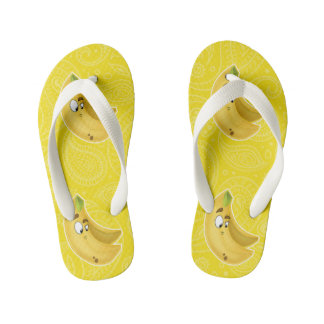 Kids flip flop banana cartoon