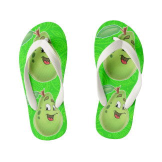 Kids flip flop pear cartoon