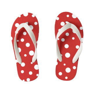 Kids Flip Flops-Polka Dots Kid's Thongs