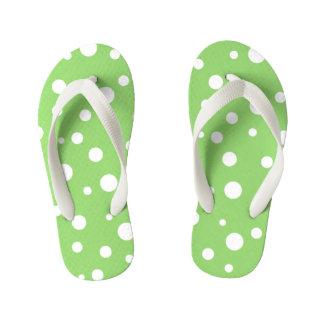 Kids Flip Flops-Polka Dots Kid's Thongs