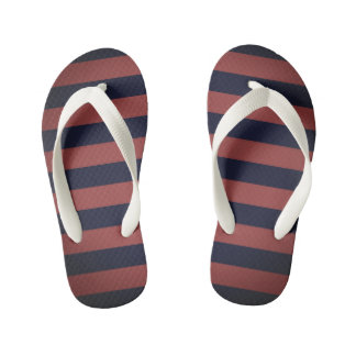 Kids flip flops wih stripes thongs