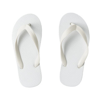 Kids Flop Flops, White Kid's Thongs