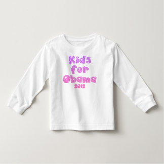 Kids For Obama - Pastel Pinks - For Girls Toddler T-Shirt