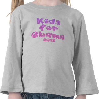 Kids For Obama - Pastel Pinks - For Girls Tees