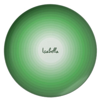 Kids Fun Shades of Green Circles Personalized Name Plate