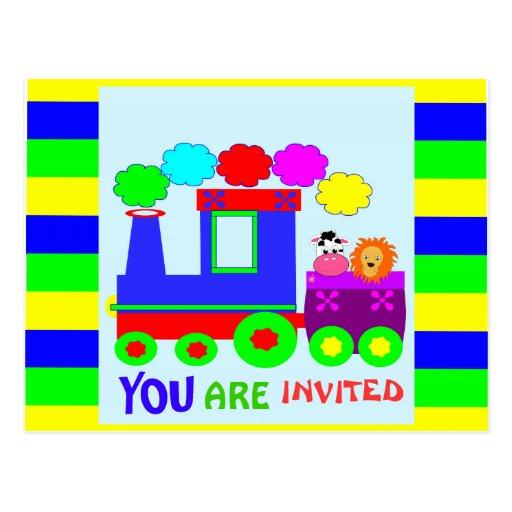 kids funny budget birthday invitation postcards
