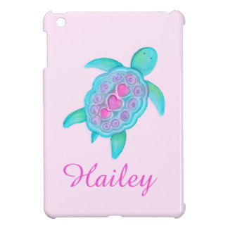 Kids girls named colorful turtle pink ipad mini iPad mini covers