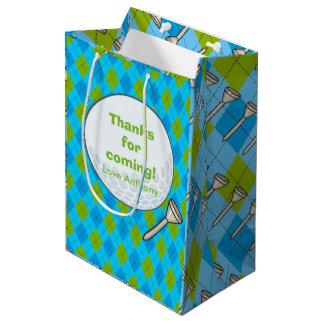 Kids Golf Theme Birthday Party Personalised Medium Gift Bag