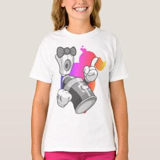 Kids Graffiti: Girls Spray Can Streetwear T-Shirt