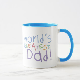 Kids Greatest Dad Ringer Mug