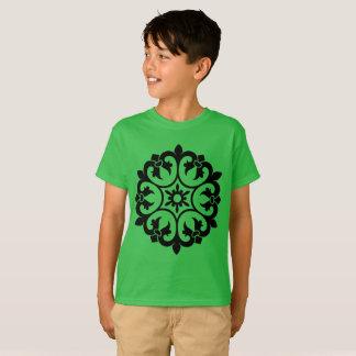 Kids green t-shirt with mandala