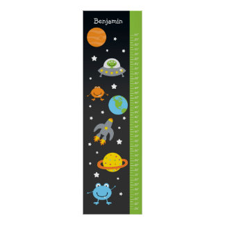 Kids Growth Chart - Outer Space Poster