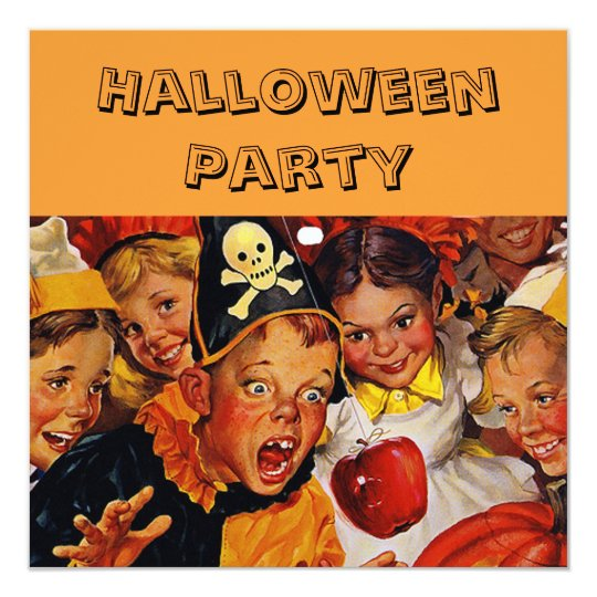 Kid's Halloween Party Card