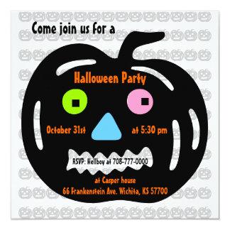 kids Halloween Party Invitation Jack O Lantern 2