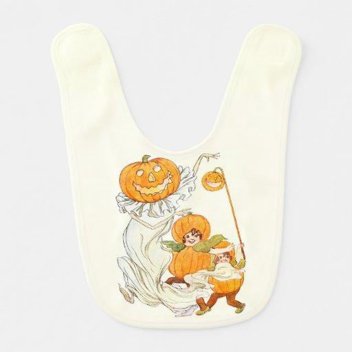 Kids Halloween Pumpkin Costume Party Baby Bib