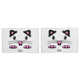 Kids Hamster Mouse pink pillowcase