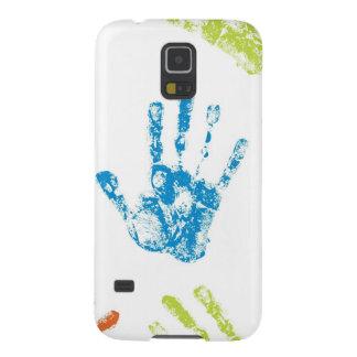 Kids Handprints in Paint Galaxy S5 Case