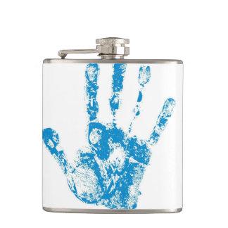 Kids Handprints in Paint Hip Flask