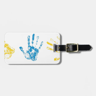 Kids Handprints in Paint Luggage Tag