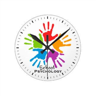 Kids' Hands School Psychology Wall Clock