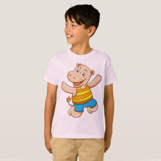 Kids' Hanes TAGLESS® T-Shirt Boy Hippopotamus