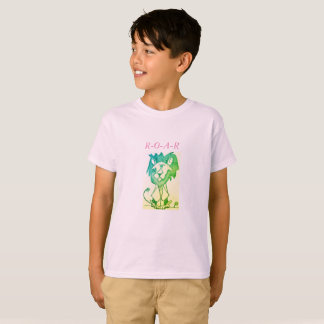 KIDS' HANES TAGLESS T-SHIRT - MAJESTIC LION