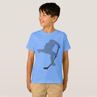 Kids' Hanes TAGLESS® T-Shirt - Shooter Logo - Blue