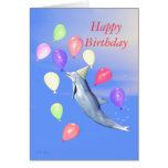 Kids Happy Birthday Party Dolphin Cards