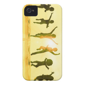 Kids Having Fun and Playing by the Beach Case-Mate iPhone 4 Case