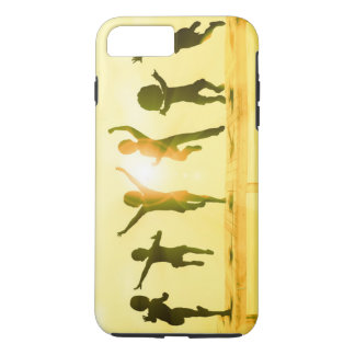 Kids Having Fun and Playing by the Beach iPhone 7 Plus Case