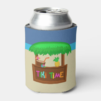 Kids Hawaiian Luau Party Guest Favor Can Cooler