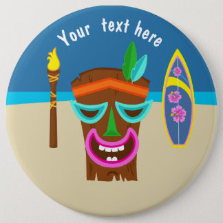 Kids Hawaiian Luau Party Personalized 6 Cm Round Badge