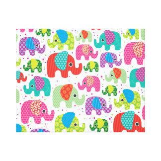 Kids home deco elephant india canvas stretched canvas prints