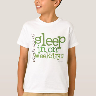 Kids' Homeschool t-shirt: Sleep in Tees