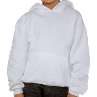 Kids' hooded sweatshirt, Black logo