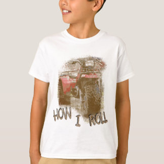 Kids How I ROLL ATV Retro Red Trike T-Shirt