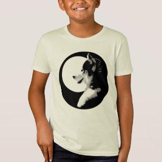 Kid's Husky T-Shirt Organic Sled Dog Kids Shirt