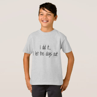 Kid's I Did It Tee