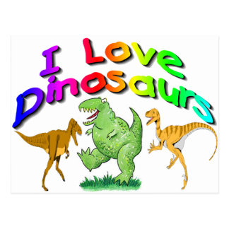 "Kids ""I Love Dinosaurs"" gifts Postcard"