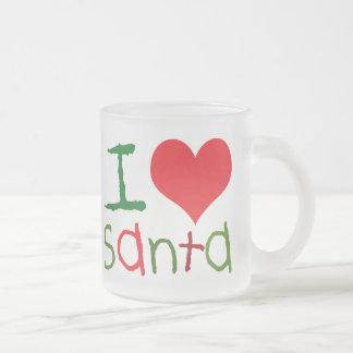 Kids I Love Santa Frosted Mug
