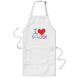 Kids I Love School Long Apron