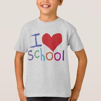 Kids I Love School T-Shirt