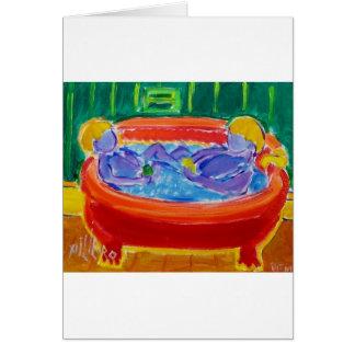 Kids in Bath Card