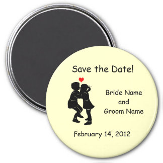 Kids in Love Kissing Save the Date Magnet