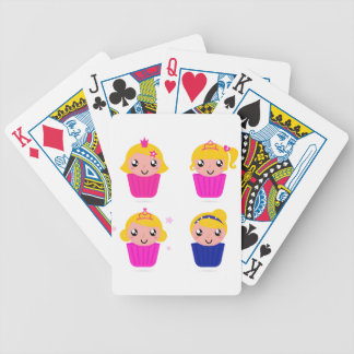 Kids in muffins bicycle playing cards