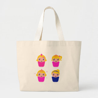 Kids in muffins large tote bag