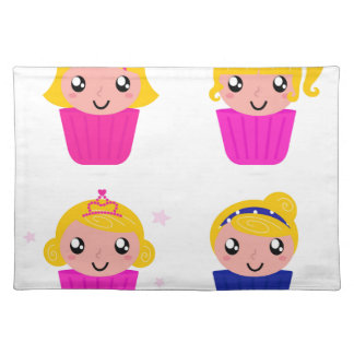 Kids in muffins placemat
