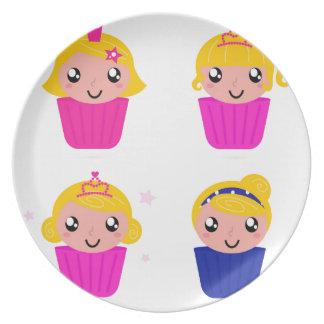 Kids in muffins plate