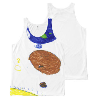 Kids in space All-Over print singlet